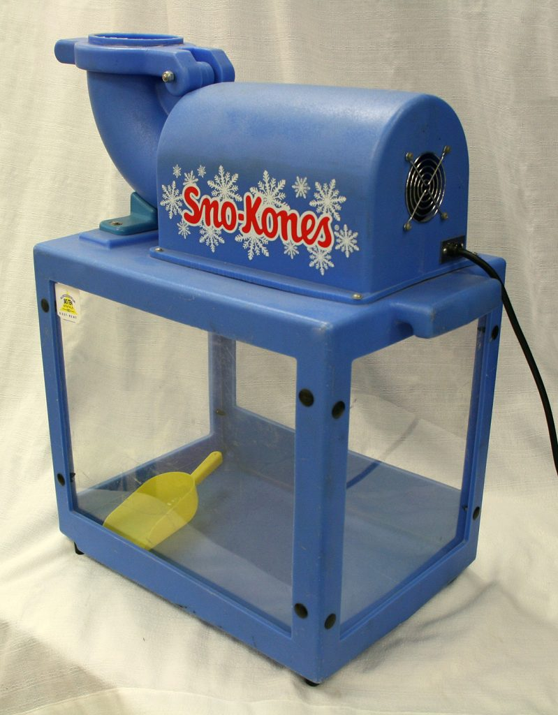 Professional snow cone machine made by Sno-King