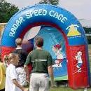 Radar Speed Pitch baseball throw inflatable game.