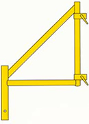 Rent an outrigger for your scaffolding. This adds extra stability.