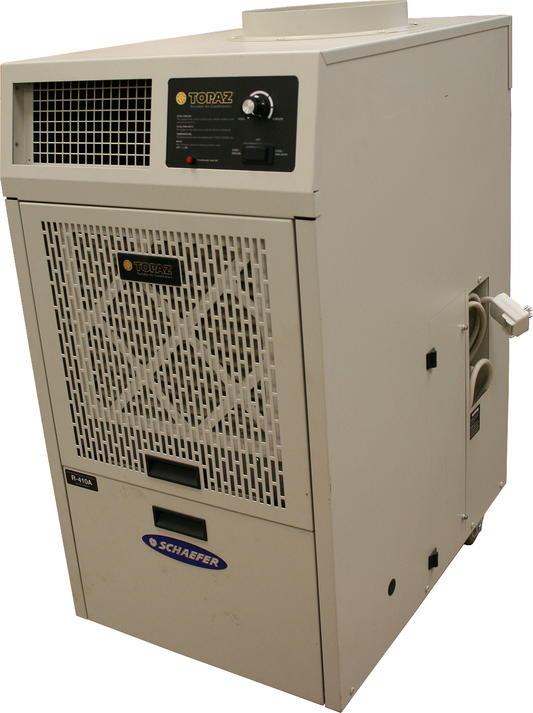 front/side of the Topaz portable air conditioning unit. Model TZ 12B #987833