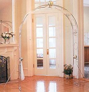Silver Trellis Wedding Arch Rental: Cedar Rapids, Iowa City, IA