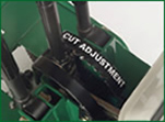One-Step Cut Adjustment Changing cutting depth is as easy as moving a lever.