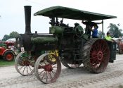 Old CASE steam engine tractor.