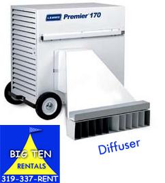 Heater diffuser