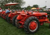 Allis-Chalmers tractors in a line