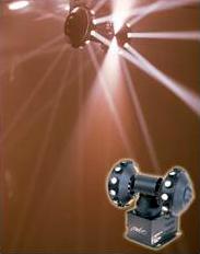 Twin Wheel motorized dance hall light in action.