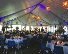 under 40ft x 80ft hybrid tent homecoming
