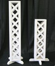 wedding lattice pillar large and small rental