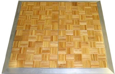 Wood grain parquet dance floor