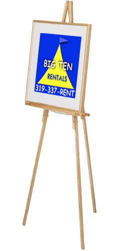 Rent our wooden easel for your next meeting or event to hold signage.