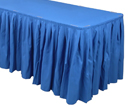 13 foot long linen table skirts