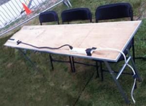 """6' x 18"""" narrow wooden rectangular banquet table."""