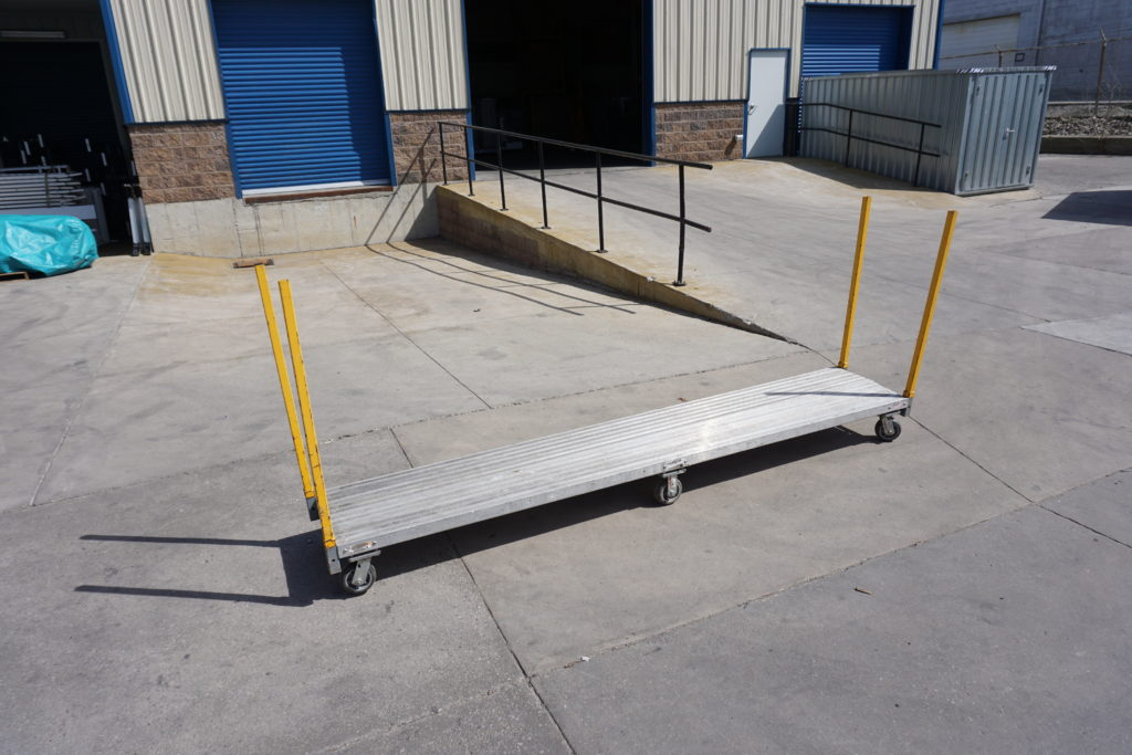 Rent the Six Wheel Flatbed Warehouse Cart