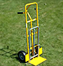 Rent a hand truck with a fold down panel for extra long items.