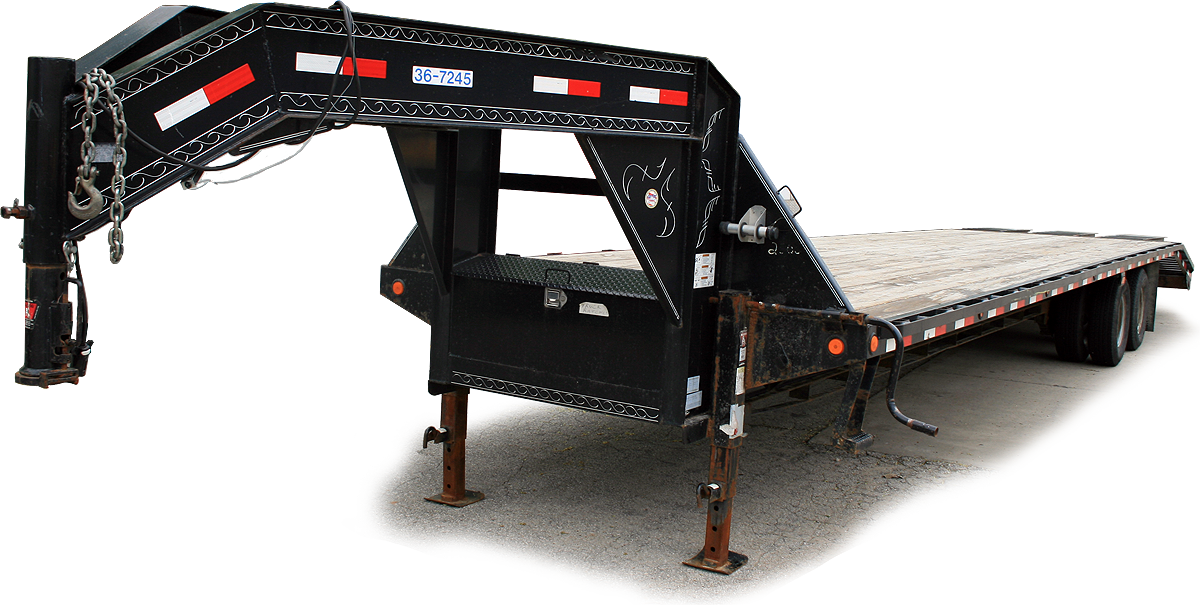 Right Sideside Gooseneck Flatbed Trailer Rental Iowa