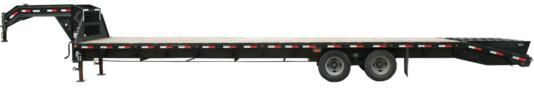 Side Of Gooseneck Flatbed Trailer For Rent Iowa City Cedar Rapids Party And Event