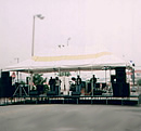 stage with covering