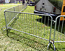 steel crowd control barrier bike rack