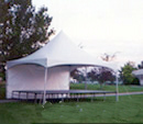 tent over stage rental
