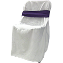 white-chair-linens-with-purple-bow-rental