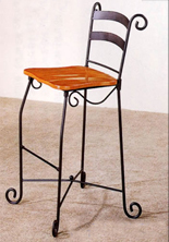 wrought-iron-bar-stool-with-gold-cushion-rental
