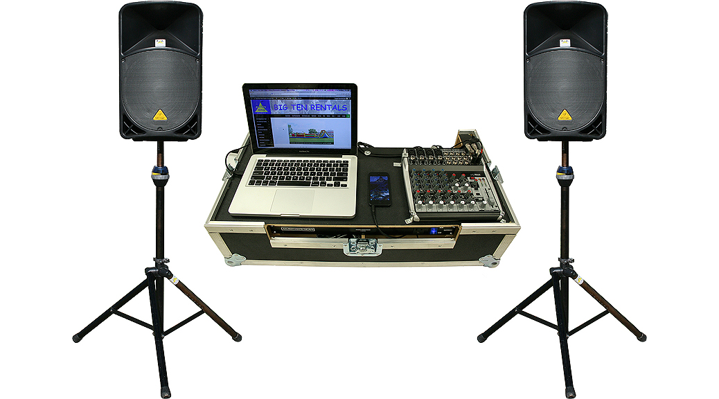 2000 watt pro stack sound system rental iowa  audio equipment