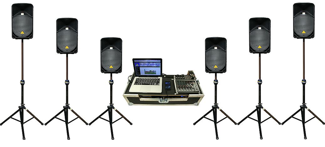 6k watt event sound system rental