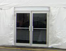 Glass Door for outside or inside clearspan tents