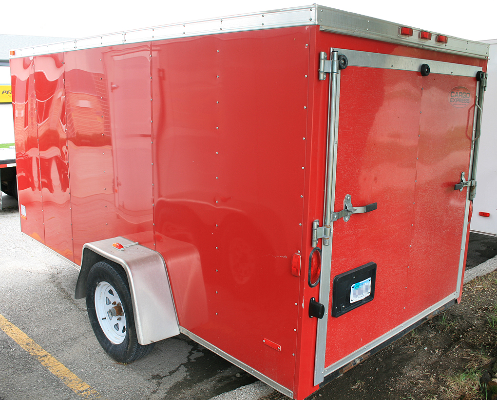Penske Cargo Trailer Rental >> Red 6'x12' enclosed cargo utility box trailer rental Iowa City