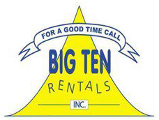 "Low resolution ""for a good time call Big Ten Rentals"" logo."