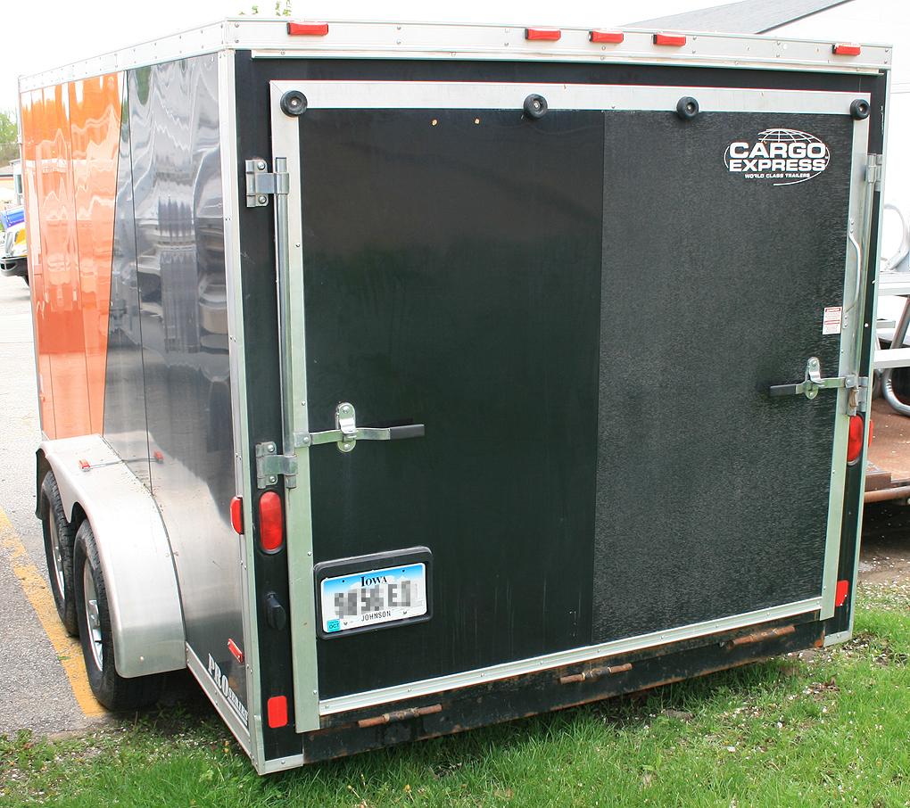 7 X14 Enclosed Utility Amp Motorcycle Trailer Rental Iowa City