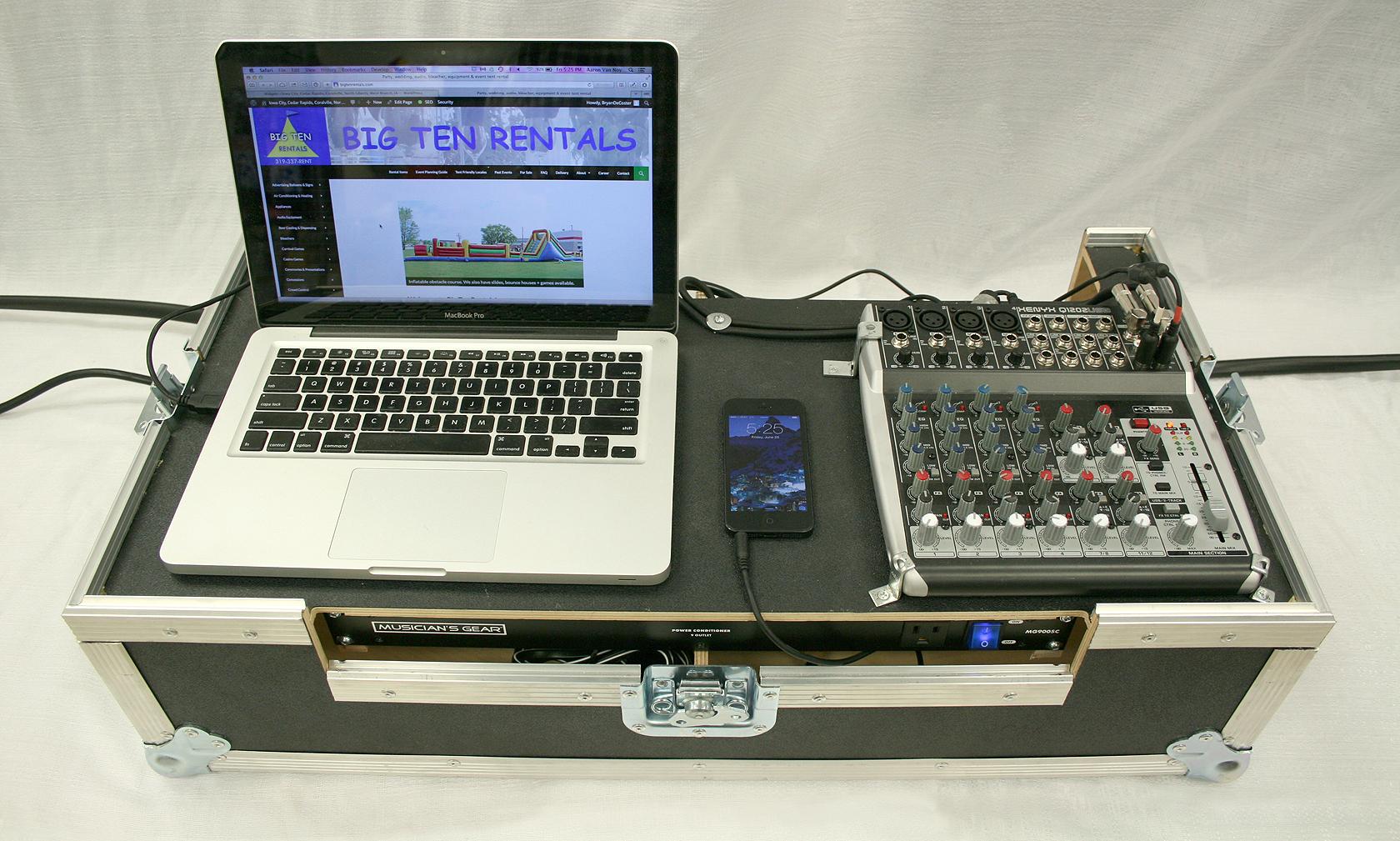 6000 Watt Pro Stack Sound System Rental Iowa Audio Equipment