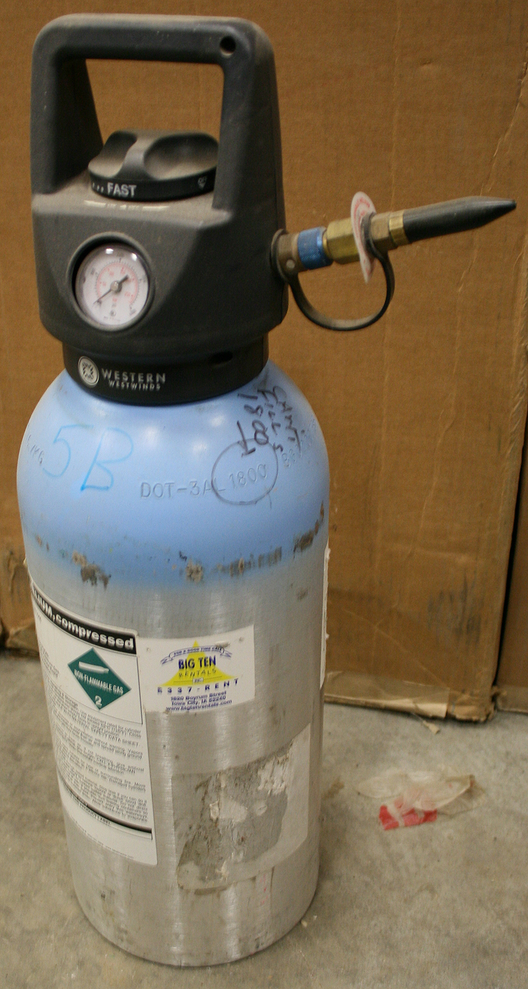 Used Helium Tanks for sale in Iowa City: multiple sizes