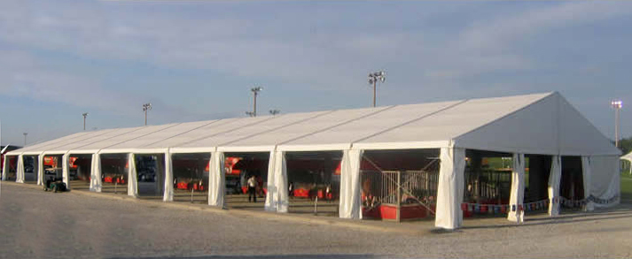 18m X 50m Losberger Clearspan Tent Outside Iowa City