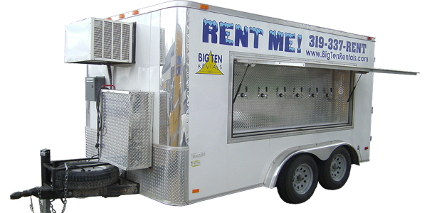 Beer equipment like our 6 taps, 30 keg beer trailer and more.