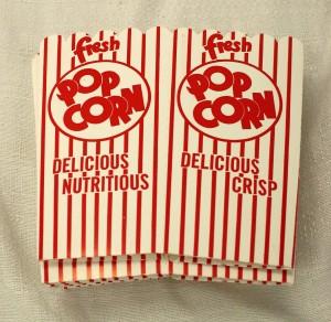 Box style popcorn tub for sale.