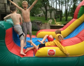 Combination bounce house and slide rental Cedar Rapids