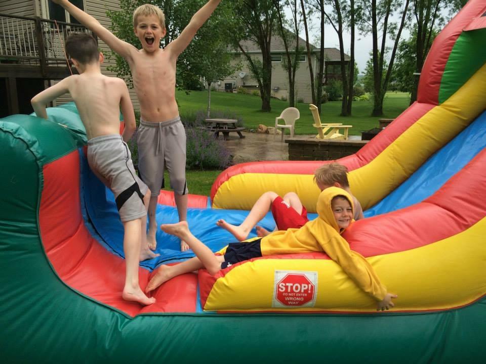 Castle Jump Slide Combo Bounce House Rental Iowa Wet Dry