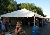 Beer Tent at the Iowa Arts Festival