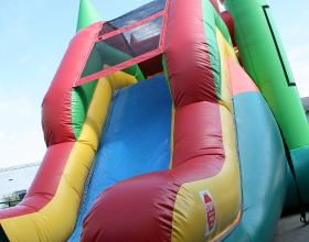 Slide area of the jumb and slide bounce house