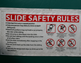 Slide safety rules for jump and slide inflatable