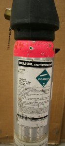 Small helium canister.