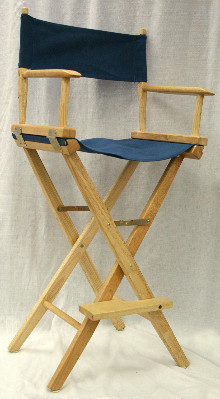 Dark Navy Blue Folding Directoru0027s Chair.