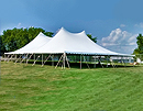"Legend 60' x 90' ""Twin Pole"" rope and pole tent."