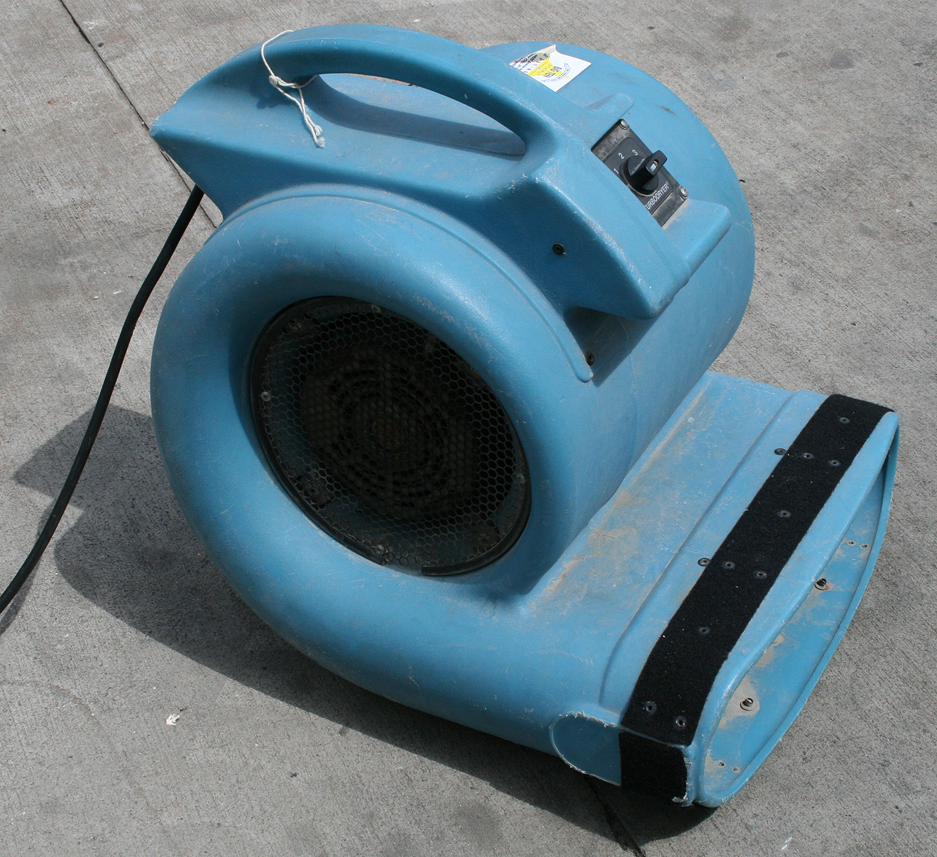 Floor Drying Fans : Air mover rental flood damaged floor carpet drying in iowa