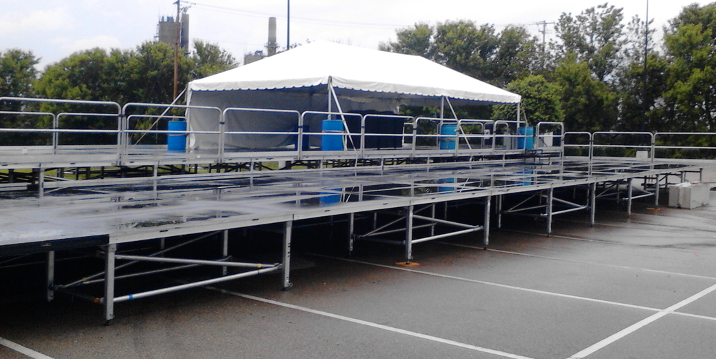 44' x 88' multi-tiered stage for rent