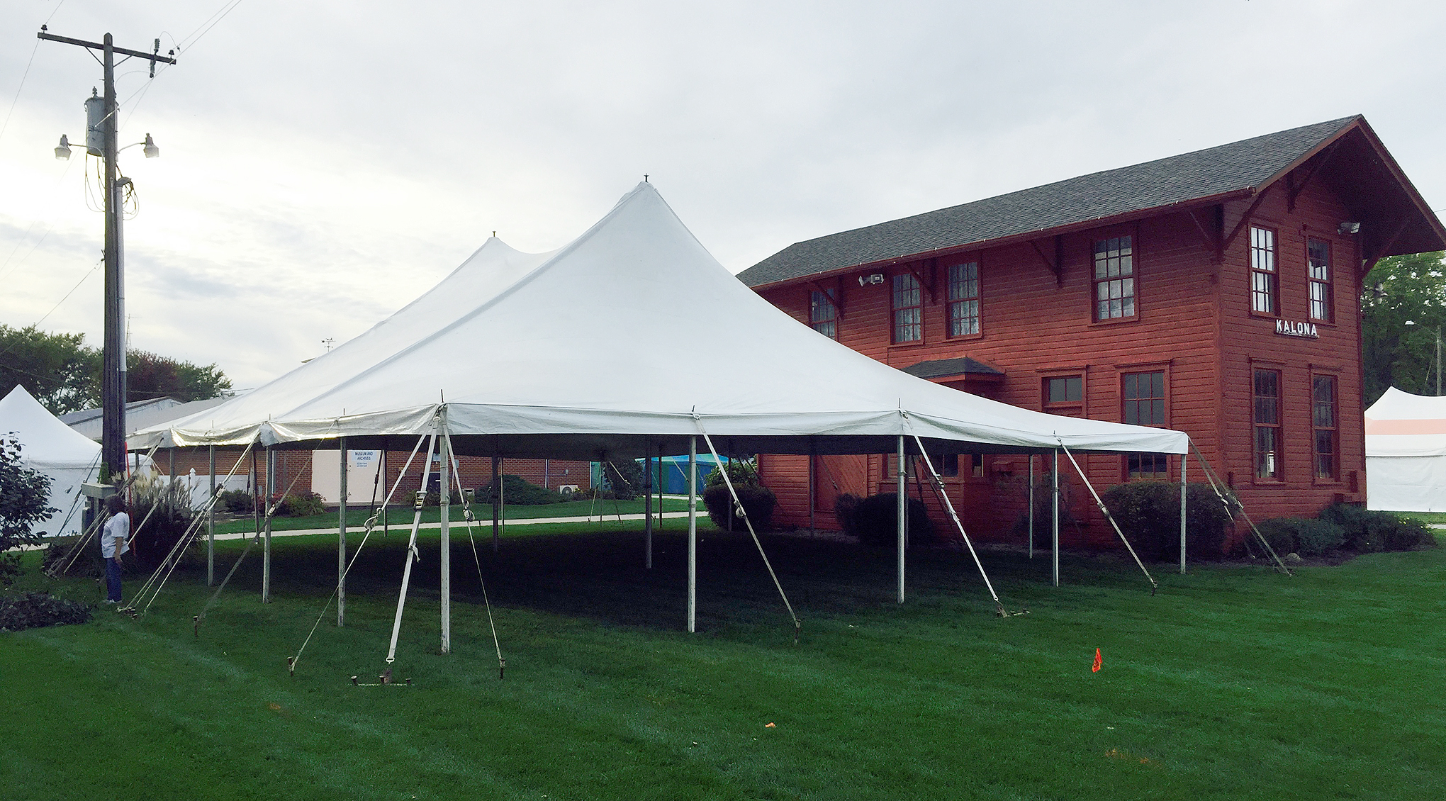 elite 40 39 x60 39 rope pole event tent rental in ia il mo wi. Black Bedroom Furniture Sets. Home Design Ideas