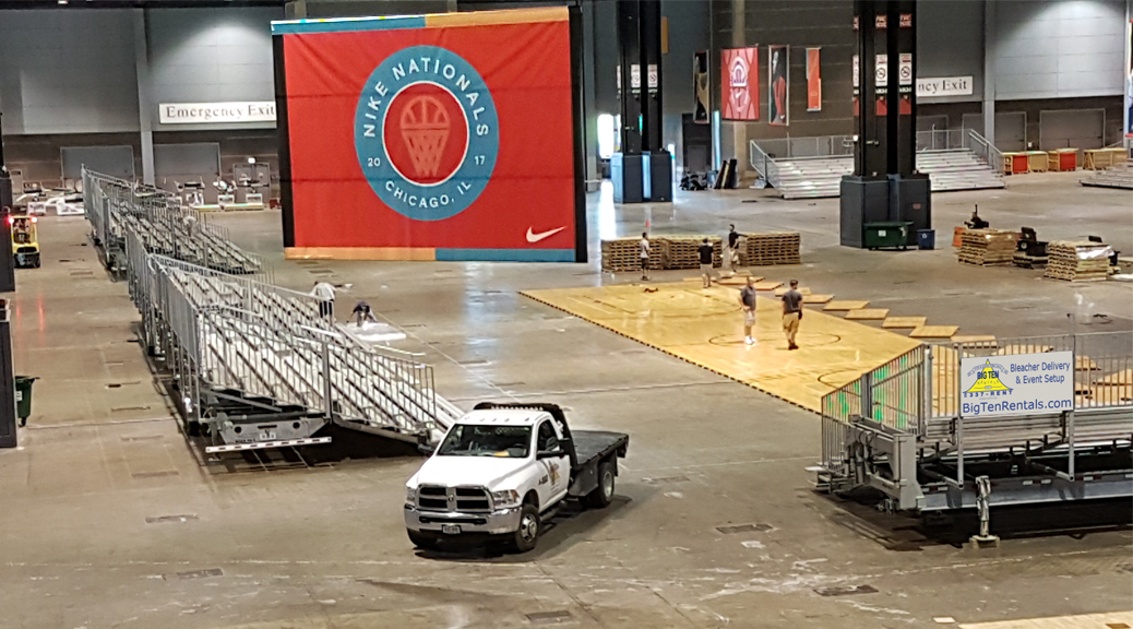 Bleacher rentals in Chicago, Illinois