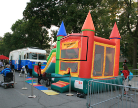Jump and Slide combo bounce house at the Iowa Soul Festival