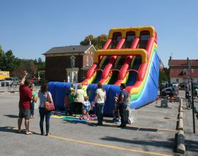 Large kids slide at Oktoberfest